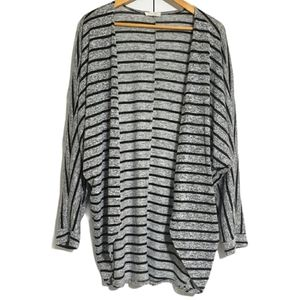 Olivia Rae open front bat wing striped cardigan